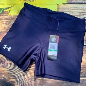 YXL Under Armour Navy Blue spanx volleyball shorts